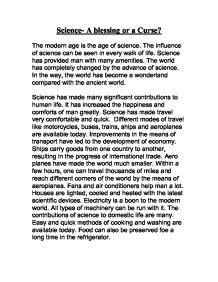 Science Development Essay by Science Development Essay