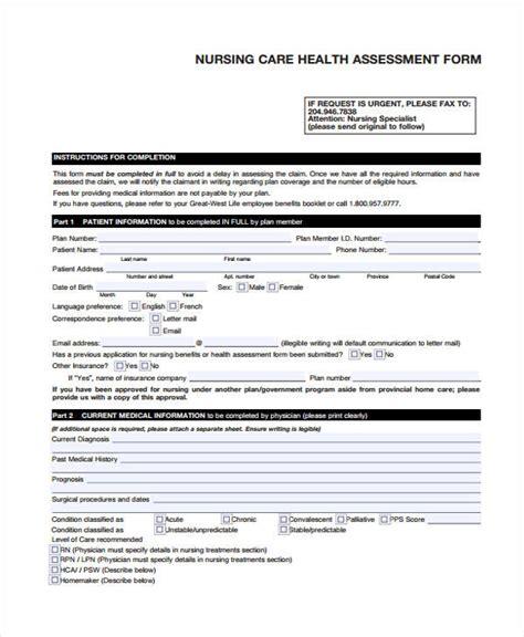 assessment form in pdf nursing assessment form in pdf