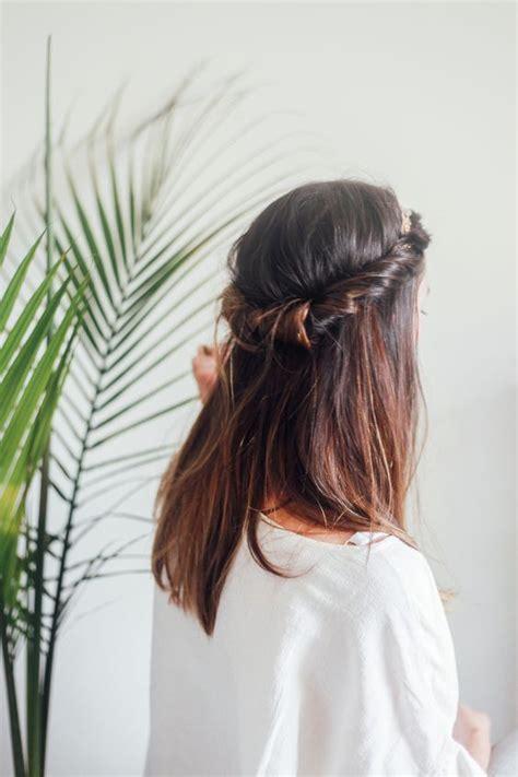 hairstyles with stretchy headbands hair tutorial half up headband roll bangs tutorial