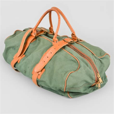 ll bean canvas tote leather handles vintage ll bean canvas duffel bag leather handles straps