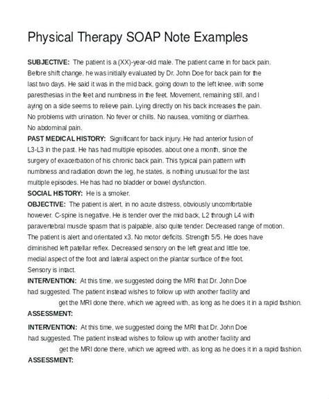 Occupational Therapy Soap Note Juegosdefriv Co