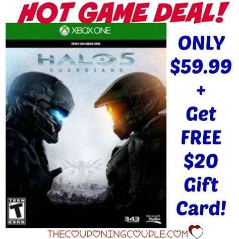 20 Xbox One Gift Card - halo 5 guardians for xbox one only 59 99 get 20 gift card