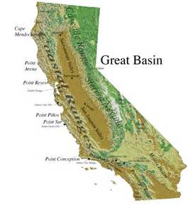 southern california mountain ranges map class notes