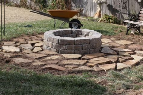 how to make an outdoor firepit how to make an inexpensive pit dishin dishes
