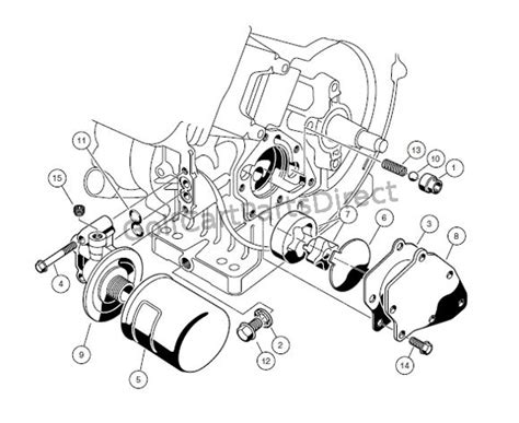 engine fe290 engine circulation club car parts