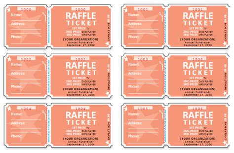 32 best raffle flyer and ticket templates images on pinterest