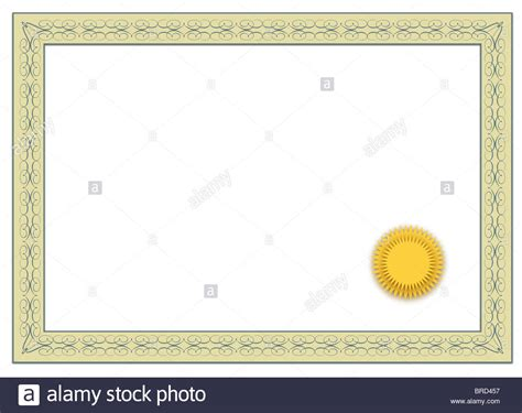 a stylized blank diploma all on white background stock