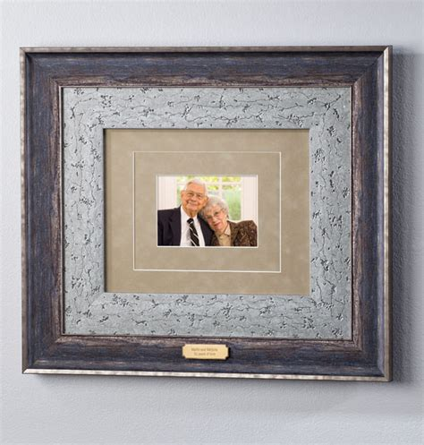 Custom Frame And Mat by Custom Mat Burnished Nickel Frame Picture Frame