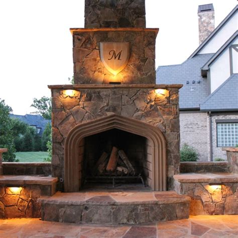 24 Best Images About Charlotte Outdoor Fireplaces On Lights In Fireplace