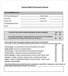 performance reviews templates sle performance review 6 documents in pdf word
