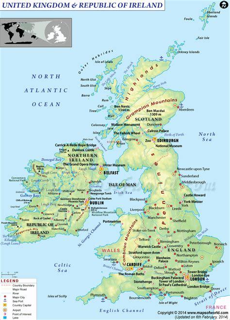 map uk and geography map of uk united kingdom detailed