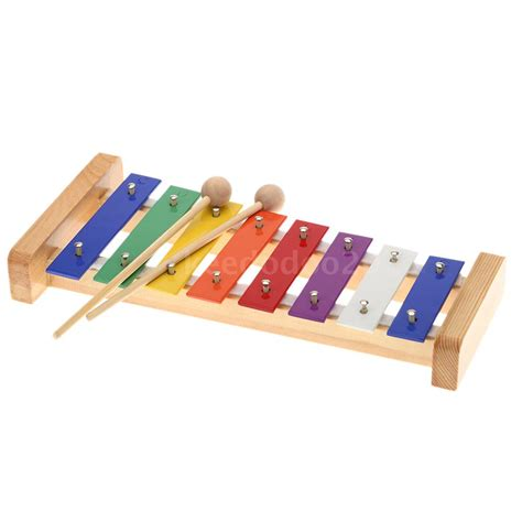 C Xylophone wood pine xylophone 8 note 3mm colorful c key percussion