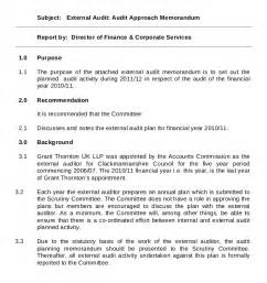 audit strategic plan template 10 audit memo templates free sle exle format