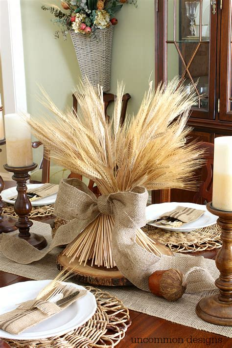 Dining Room Table Centerpieces Ideas by How To Make Wheat Bundle Centerpiece