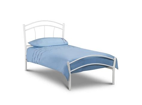 Metal Frame Single Beds Julian Bowen Miah 3ft Single White Metal Bed Frame By Julian Bowen