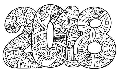 Free Coloring Page 2018 by Dibujo De 2018 Para Colorear Web Maestro