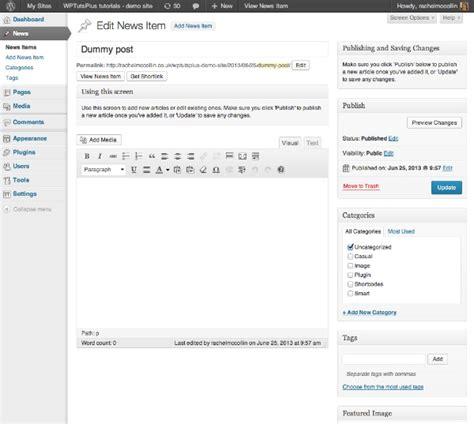 tutorial wordpress dashboard customizing the wordpress admin help text
