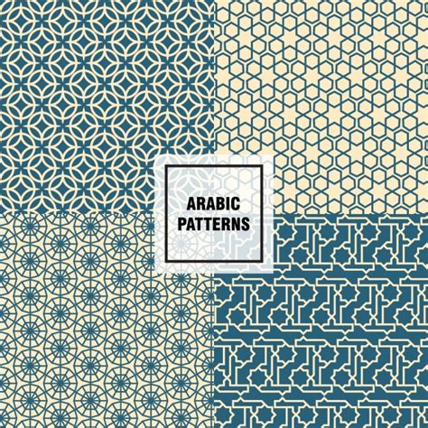 pattern arabic nice arabic patterns vector free download