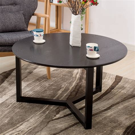 Simple Black Coffee Table Simple Black Wood Coffee Table Creative Personality Small Apartment Living Room Coffee Table