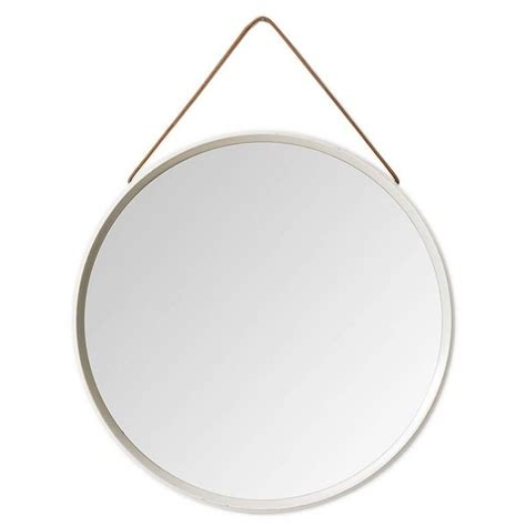 L V Mirror Italy Leather Size 25 Cm Best Quality Include Box 3 550 white lacquered mirror with leather for sale at 1stdibs