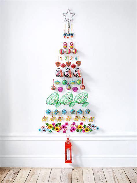 Oggetti Natale Fai Da Te by 30 Idee Per Alberi Di Natale Da Parete Fai Da Te