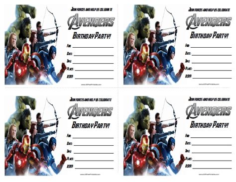 avengers printable party decorations the avengers birthday party invitations free printable