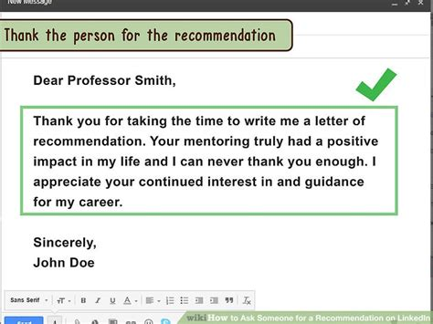 Thank You Letter Linkedin how to ask someone for a recommendation on linkedin 11 steps
