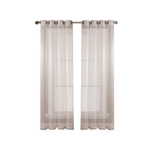 extra wide sheer curtain panels window elements diamond sheer voile white grommet extra