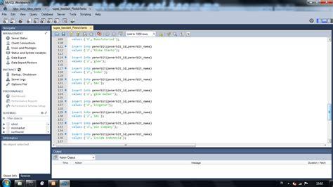 membuat database mysql workbench membuat database dan perintah sql dengan mysql workbench 6