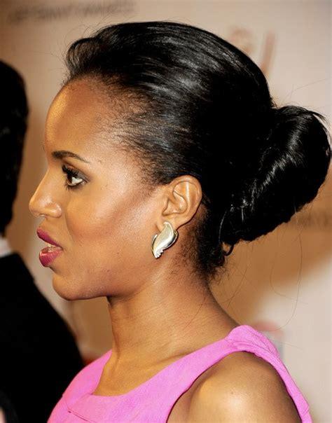 Kerry Washington Hairstyles by Kerry Washington Hairstyles Bun Updos Popular Haircuts