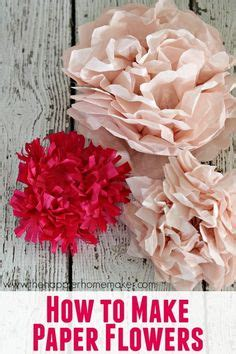 How To Make Easy Flowers Out Of Tissue Paper - 1000 images about handmade flowers on felt