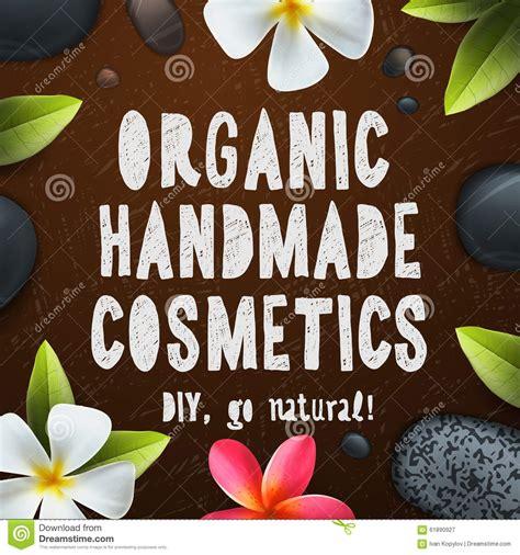Organic Handmade Cosmetics - handmade organic cosmetics stock illustration image
