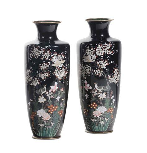 vasi cloisonne coppia di vasi cloisonn 233 giappone periodo meiji