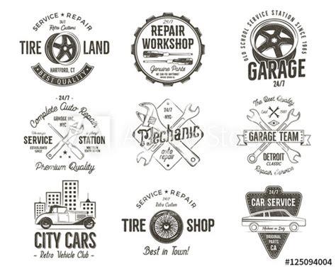 best color care shoo vintage car service badges garage repair labels and