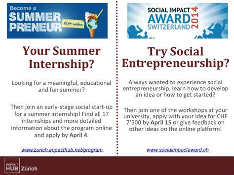 Social Entrepreneurship Mba by Entrepreneurship Zhaw