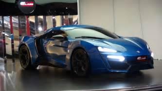 Sports Car Dealer In Dubai Blue Lykan Hypersport At Al Ain Class Motors In Dubai