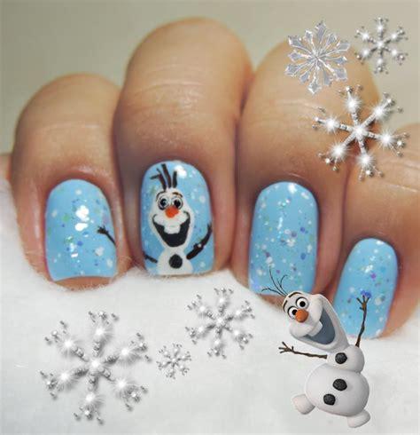 nail art olaf tutorial nail art frozen olaf 09