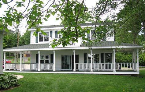 big white house with wrap around porch designs farm