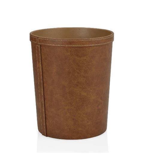 corbeille bureau corbeille 224 papier de bureau ronde similicuir marron vintage