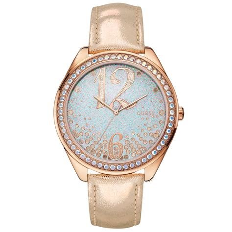 Guess Gs0277 Pink Rosegold guess womens metallic gold leather 44mm in pink lyst