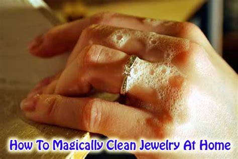 how to magically clean jewelry at home home and