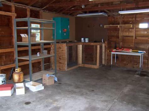 garage dog kennel       differently