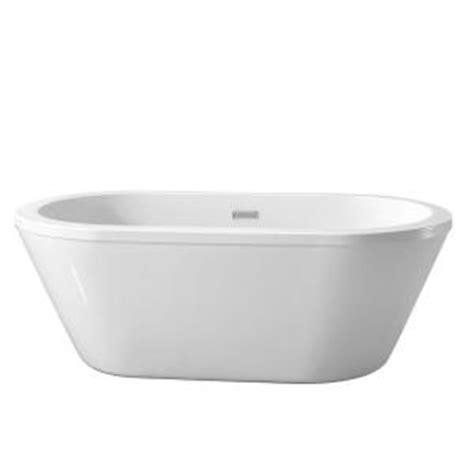 center drain bathtubs schon colton 5 25 ft center drain freestanding bathtub in