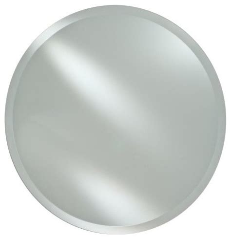 round bathroom wall mirrors radiance frameless round vanity wall mirror