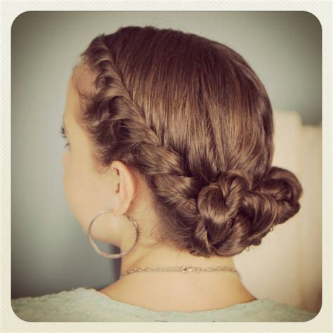 twist bun updo homecoming hairstyles