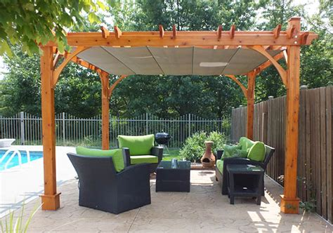 pergola kits breeze retractable canopy 12x12 pool olt