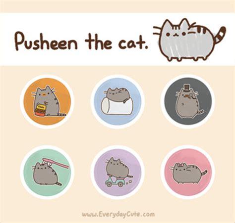 pusheen the cat super cute kawaii!!
