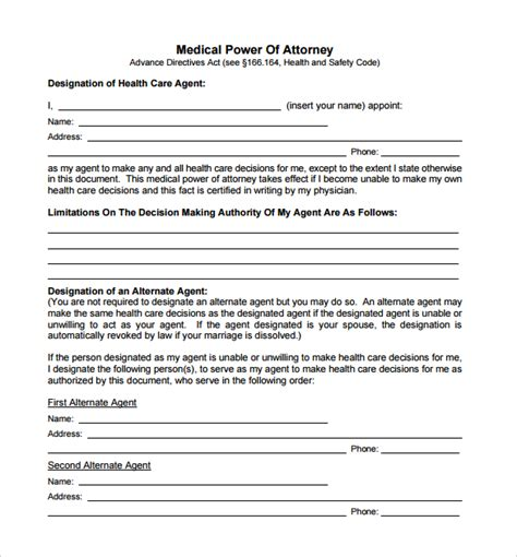free poa template 15 sle power of attorney form templates to