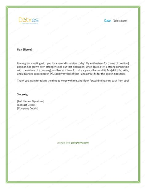 second thank you email template thank you letter sle after second cover