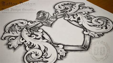 coat of arms tattoo template available for download
